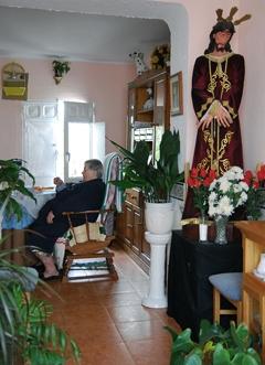 Reproducción de Jesús de la Humildad en una casa de la Villa.